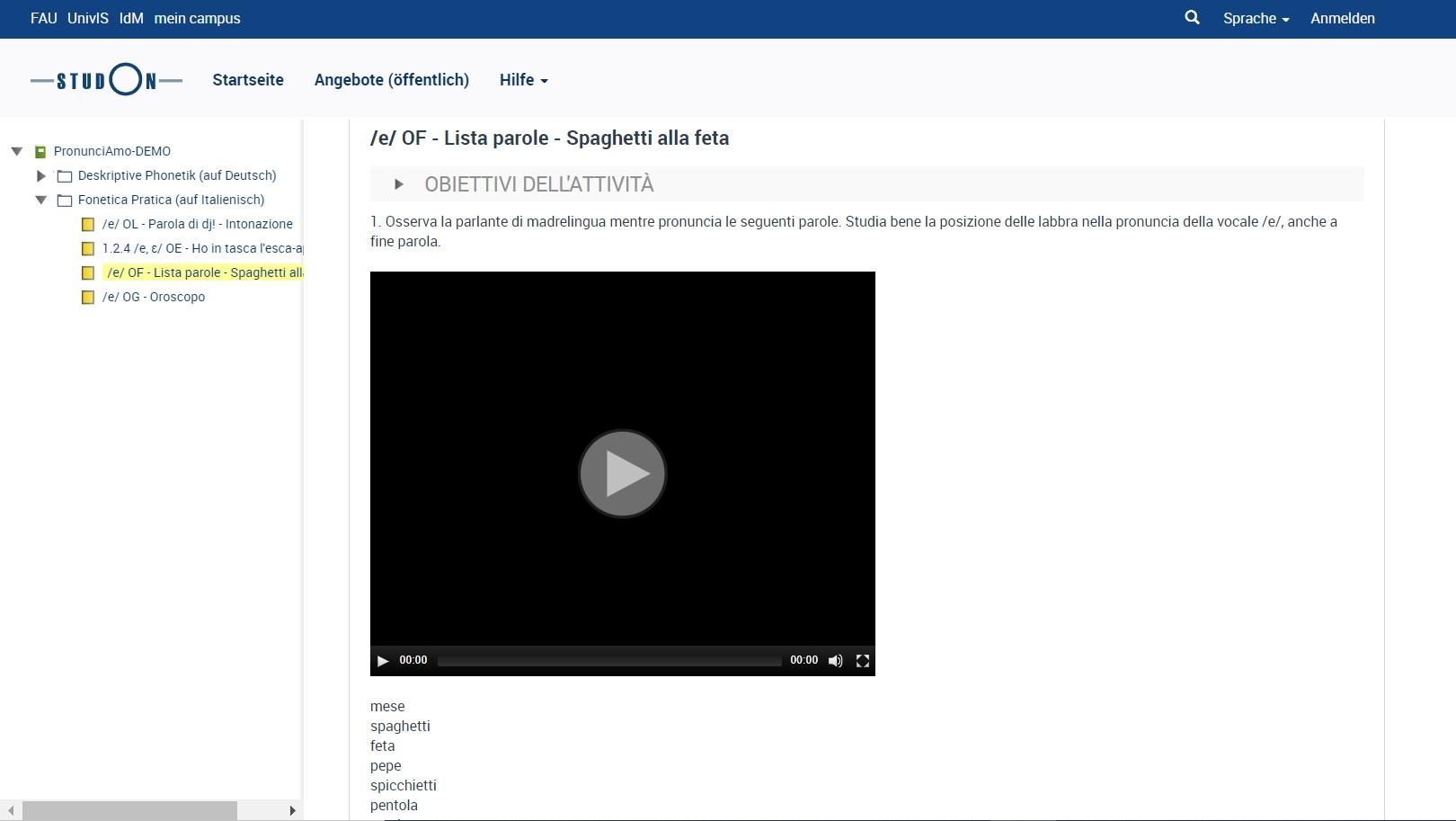 Screenshot Pronunciamo